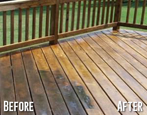 Patio Cleaning Before After